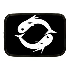 White fishes Netbook Case (Medium)