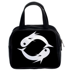 White fishes Classic Handbags (2 Sides)