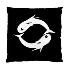 White fishes Standard Cushion Case (One Side)