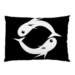 White fishes Pillow Case