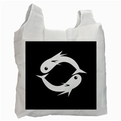 White fishes Recycle Bag (One Side)