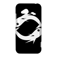 White fishes HTC Droid Incredible 4G LTE Hardshell Case