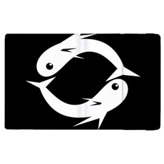 White fishes Apple iPad 2 Flip Case