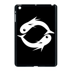White fishes Apple iPad Mini Case (Black)
