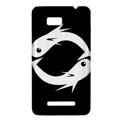 White fishes HTC One SU T528W Hardshell Case