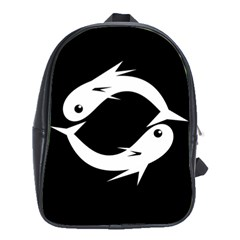 White fishes School Bags (XL)