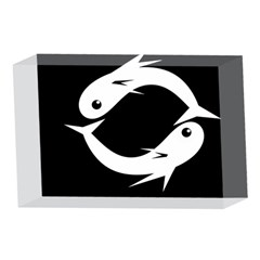 White fishes 4 x 6  Acrylic Photo Blocks