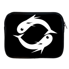 White fishes Apple iPad 2/3/4 Zipper Cases