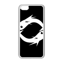 White fishes Apple iPhone 5C Seamless Case (White)