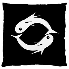 White fishes Standard Flano Cushion Case (One Side)