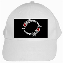 Abstract fishes White Cap