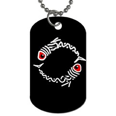 Abstract fishes Dog Tag (Two Sides)