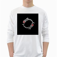 Abstract fishes White Long Sleeve T-Shirts