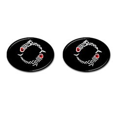 Abstract fishes Cufflinks (Oval)