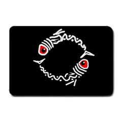 Abstract fishes Small Doormat