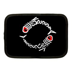 Abstract fishes Netbook Case (Medium)