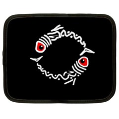 Abstract fishes Netbook Case (XL)