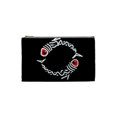 Abstract fishes Cosmetic Bag (Small)