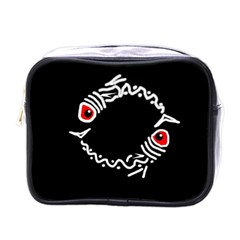 Abstract fishes Mini Toiletries Bags