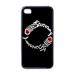 Abstract fishes Apple iPhone 4 Case (Black)