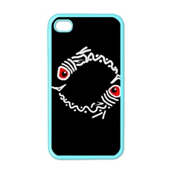 Abstract fishes Apple iPhone 4 Case (Color)