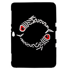 Abstract fishes Samsung Galaxy Tab 8.9  P7300 Hardshell Case