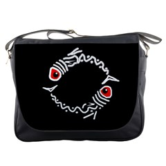 Abstract fishes Messenger Bags