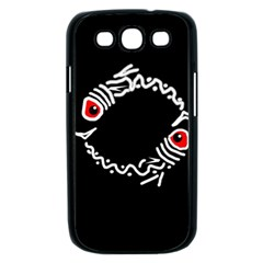 Abstract fishes Samsung Galaxy S III Case (Black)