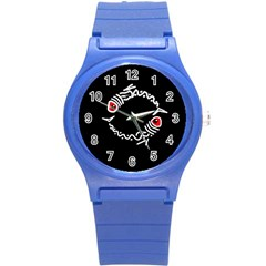 Abstract fishes Round Plastic Sport Watch (S)