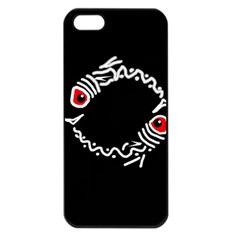 Abstract fishes Apple iPhone 5 Seamless Case (Black)