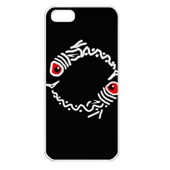 Abstract fishes Apple iPhone 5 Seamless Case (White)