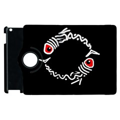 Abstract fishes Apple iPad 2 Flip 360 Case