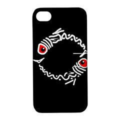 Abstract fishes Apple iPhone 4/4S Hardshell Case with Stand