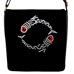 Abstract fishes Flap Messenger Bag (S)