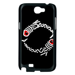 Abstract fishes Samsung Galaxy Note 2 Case (Black)