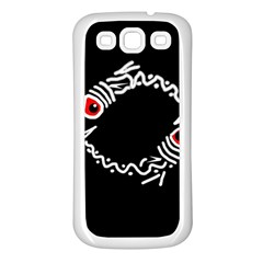 Abstract fishes Samsung Galaxy S3 Back Case (White)