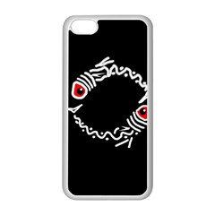 Abstract fishes Apple iPhone 5C Seamless Case (White)