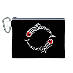 Abstract fishes Canvas Cosmetic Bag (L)