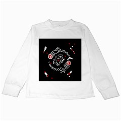 Abstract fishes Kids Long Sleeve T-Shirts
