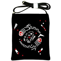 Abstract fishes Shoulder Sling Bags