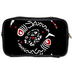 Abstract fishes Toiletries Bags 2-Side