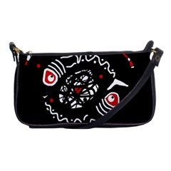 Abstract fishes Shoulder Clutch Bags