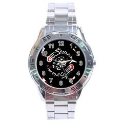 Abstract fishes Stainless Steel Analogue Watch