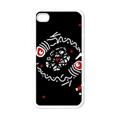 Abstract fishes Apple iPhone 4 Case (White)
