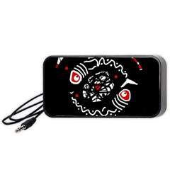 Abstract fishes Portable Speaker (Black)