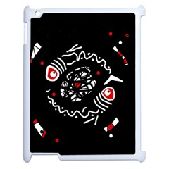 Abstract fishes Apple iPad 2 Case (White)