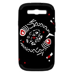 Abstract fishes Samsung Galaxy S III Hardshell Case (PC+Silicone)