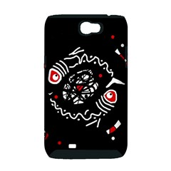 Abstract fishes Samsung Galaxy Note 2 Hardshell Case (PC+Silicone)