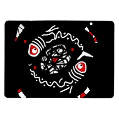 Abstract fishes Samsung Galaxy Tab 10.1  P7500 Flip Case