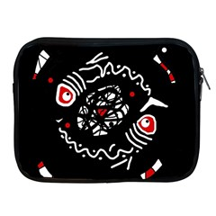 Abstract fishes Apple iPad 2/3/4 Zipper Cases